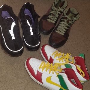 3 pair used Nike shoes